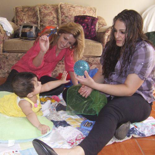 Mom, baby & therapistSQ
