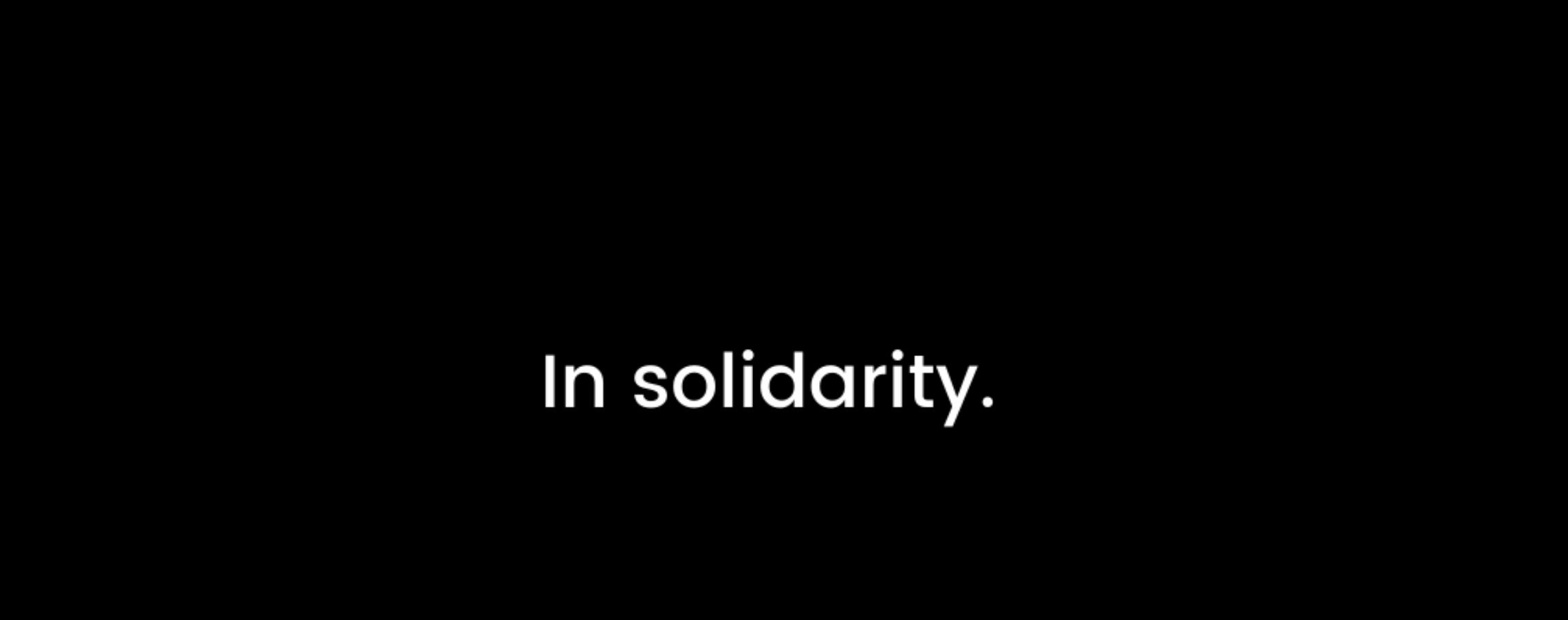 WIN's Stands In Solidarity